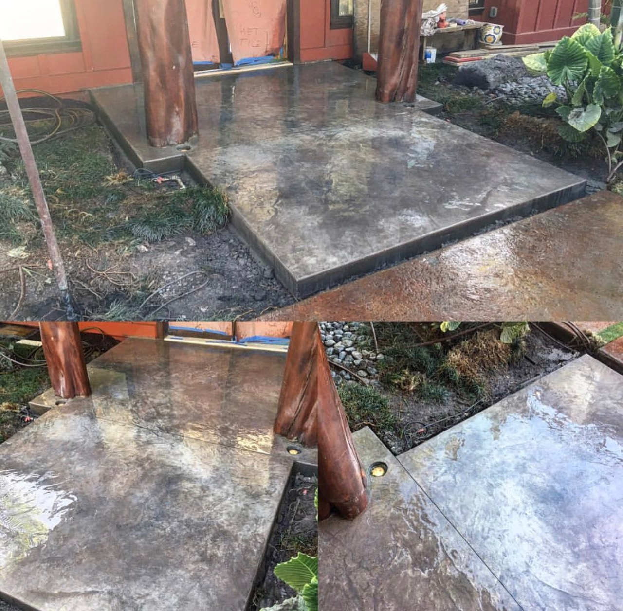 Custom Italian Slate Stamped Concrete Entry